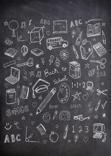 lekker creatief op een schoolbord